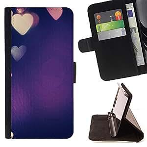 - Queen Pattern FOR Samsung Galaxy S4 IV I9500 /La identificaci????n del cr????dito ranuras para tarjetas tir????n de la caja Cartera de cuero cubie - colorful blue purple heart l
