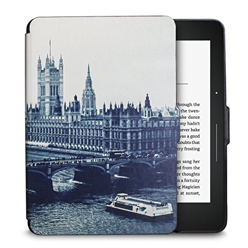 WALNEW Kindle Voyage Colorful Painting Silk Leather Case Cover -- the Thinnest and Lightest Pu Leather Case Cover for the Latest Amazon Kindle Voyage with 6