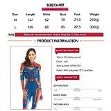 HuangWeida Cosplay Lady Captain Suit Halloween Costume Spandex Bodysuit Carol Danvers Costume