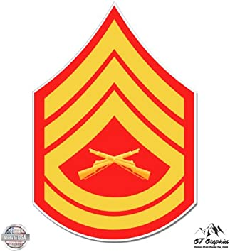 2x E7 Gunnery Sergeant Marines Rank *Choose Color /& Size* Stickers Decals #ma005