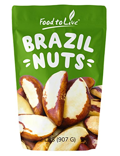 Brazil Nuts  2 Pounds (Raw, Whole, No Shell, Unsalted, Kosher, Bulk, Shelled Brazilian Nut)