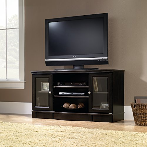 Sauder Regent Place Panel TV Stand, Estate Black Finish