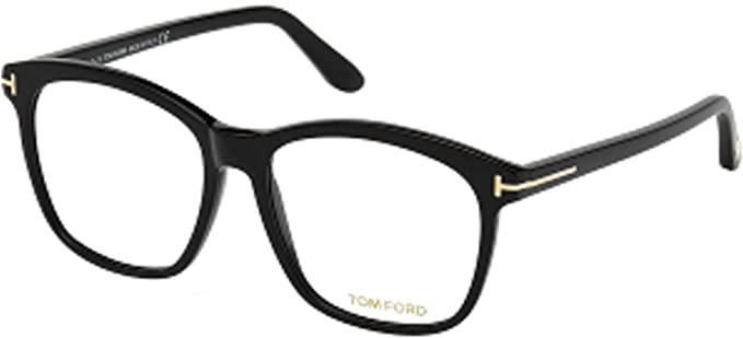cba4022b35e7 Image Unavailable. Image not available for. Color  Eyeglasses Tom Ford FT  5481 -B 001 Shiny Black Blue Block Lenses