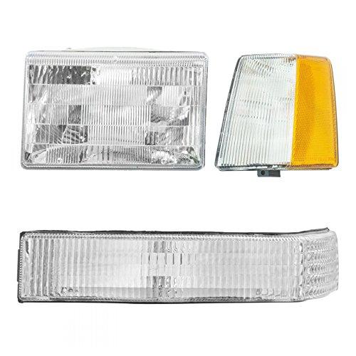 Headlights & Parking Corner Lights Driver Side Left LH for 93-96 Grand - Am Side Grand Corner Drivers