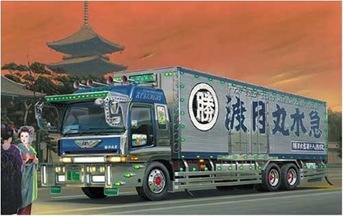 青島文化教材社 1/32 大型デコトラ No.74 旭勝 渡月丸 きょくしょう とげつまる ロングシャーシ保冷車 B0015RB6VY