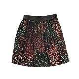 Evelyn Alex Big Girls Jersey Knit Play Skirt (14, Multi Black)