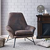 New Pacific Direct 4500013 Vascoo Arm Chair, Nubuck Java Brown