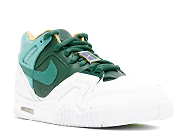 74797e499a44 Nike Mens Air Tech Challenge II SP Wimbledon White Jade Glaze-Gorge Green  Leather