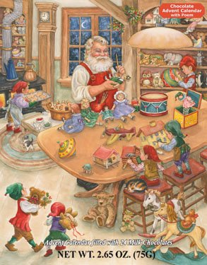 Santa's Toy Shop Chocolate Advent Calendar