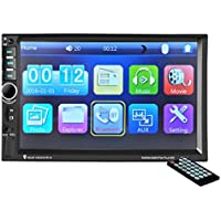 Oucan 7 Inch HD Touch Screen Double Din In-dash Car Stereo MP5 Player Support Bluetooth Hands-Free FM Radio Aux-in USB TF card, Wireless Remote