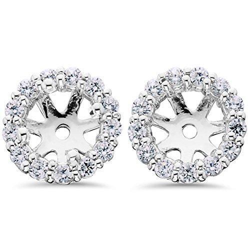 14K White Gold 1/2ct. Diamond Earring Jackets by Pompeii3