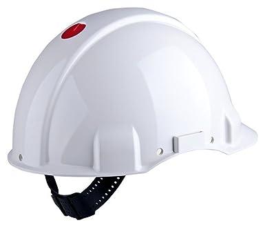 3M G3001CUV-VI - G3001 Casco, sin ventilación, blanco, arnés estándar y