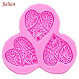 Star-Trade-Inc - Heart flower Photo Frames Shaped DIY fondant cake silicone moulds accessories for cupcake decoration kitchen Baking tools