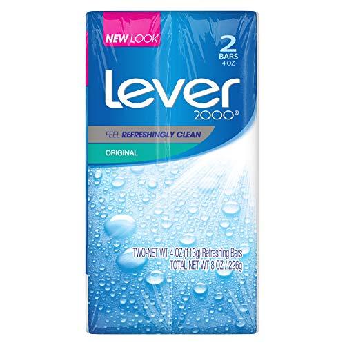 (Lever 2000 Bar Soap, Original, 4 oz, 2 Bar)