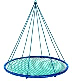Sky Island Giant Outdoor Hanging Round Platform Swing for Multiple Kids and Adults, 400 lbs Max Weight, 5ft Diameter