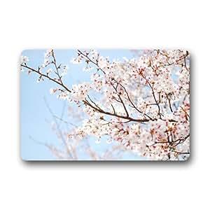 """Blooming Sour Cherry Tree customized durable arte impresión interior y al aire libre Felpudo 25.6""""x 15.7"""""""