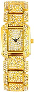 Yes Swiss Women's Gold Dial Stainless Steel Band Watch [YM8029.V077]