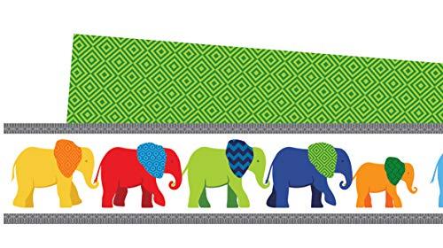 - Parade of Elephants Straight Borders