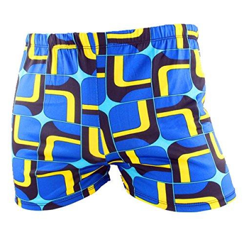 KUWOMINI.Fashion Flach Badehose Schnell Trocknend Männer Schwimmhose Heiße Quellen Badeanzug Strand,Multi-color2-XXL