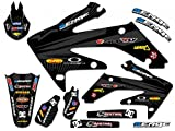 Senge Graphics 2003-2013 Honda CR 85 Mayhem Black Graphics kit