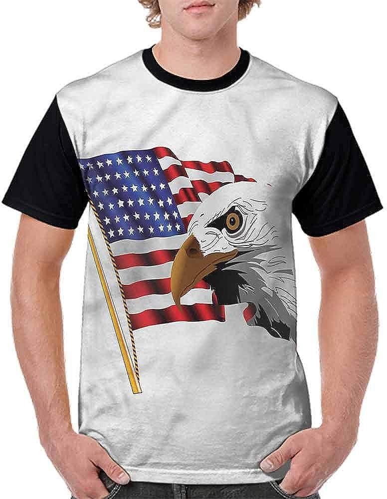 Trend t-Shirt,Eagle Emblem of USA Fashion Personality Customization