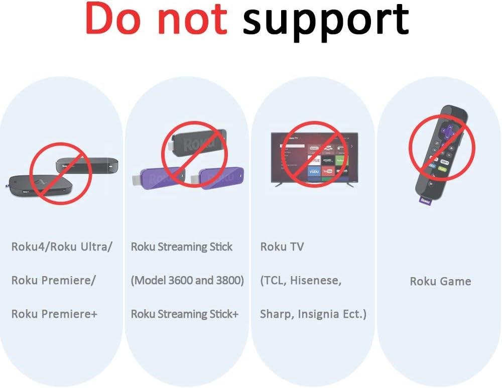 Roku Express+ Roku Express Roku LT HD, XD, XS Roku N1 Roku 3 XD XDS HD Gvirtue Replacement Remote Control for Roku Box Model: Roku 1 Roku 2