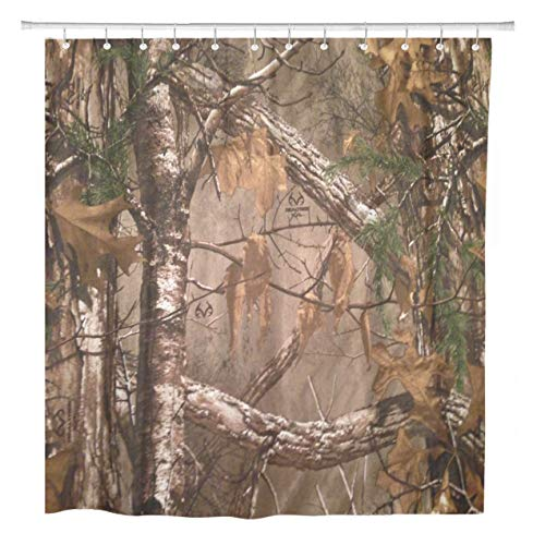 ArtSocket Shower Curtain Camouflage Woods Wilderness Jungle Home Bathroom Decor Polyester Fabric Waterproof 60 x 72 Inches Set with Hooks