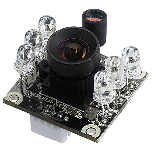(Spinel 2MP full HD USB Camera Module Infrared OV2710 with Non-distortion Lens FOV 100 degree, Support 1920x1080@30fps, UVC Compliant, Support most OS, Focus Adjustable, UC20MPD_ND)