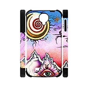 Canting_Good Funny trippy sun and moon Custom Dual-Protective Case Shell Skin for Samsung Galaxy S4 I9500 3D