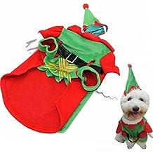 Visky Pet Santa Costume Christmas Cltohes Dog Winter Coat--XXL