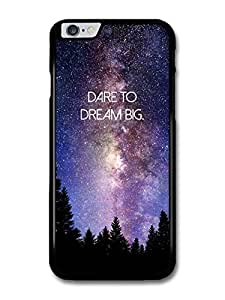 """Wholesale diy case Accessories Dare To Dream Big Life & Love Inspirational Quote Stars & Galaxy case for iPhone 6 Plus (5.5"""")"""