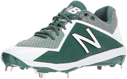 New Balance Men's L4040v4 Metal Baseball Shoe, Green/White, 5.5 2E US