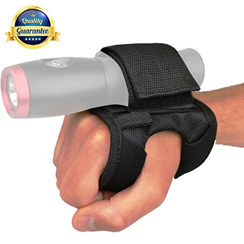 Tonelife Soft Goodman Glove 01 Nylon Hand and Arm Strap Adjustable Soft Hand Mount With Magic Tape and Max Diameter 5cm for Led Flashlight Dive Lights Scuba Torch (Without Torch)