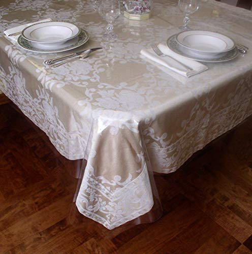 Crystal Clear Tablecloth Cover - Vinyl Table Protector (70
