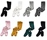 4~8 Pack Baby Girls Toddler Infant Cotton Leggings Knitted Animal Theme Tights Pants Stockings (8 pack set, M(3~5T))