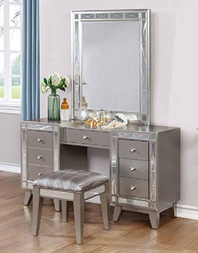 Coaster 204928-CO Vanity Mirror, Metallic - Mercury Wall Vanity