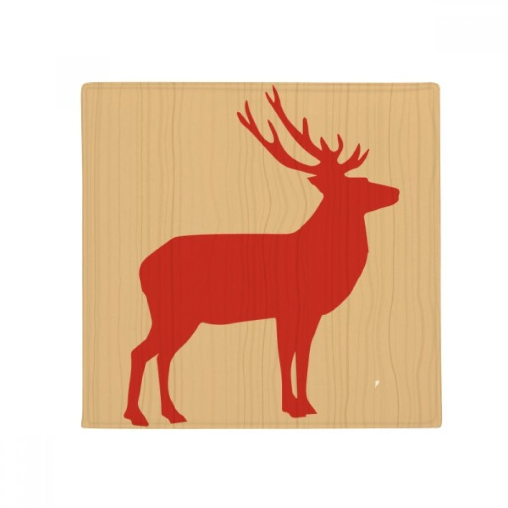 DIYthinker Deer Animal Red Wood Grain Anti-Slip Floor Pet Mat Square Home Kitchen Door 80Cm Gift