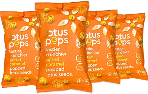 Lotus Pops Salted Caramel (4-Pack) | Protein-Rich Roasted Snack