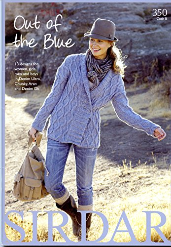 Out of The Blue - Sirdar Knitting Pattern Book - Coats Sweater Knitting Patterns