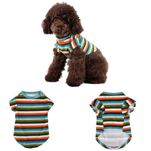 Pet Clothes Pet t-shirts for Large Dogs Stripe Pet Clothes for Boys/Girls