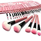 KUPOO Pink Make up Brusheset with Case (32, 32pink)