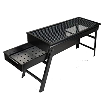 Jiu Si- Grill - Outdoor Pulling Carbon Groove Portable Grill ...
