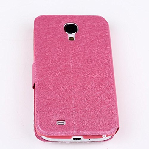Choize® Flip Case with Magnetic Button Stand for iPhone 5s iPhone 5 Pink Dimond Love