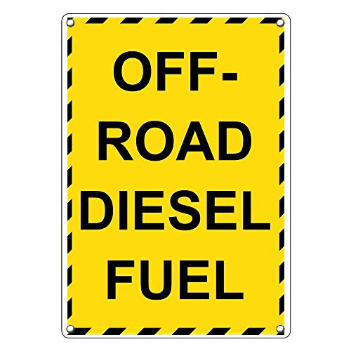 Weatherproof Plastic Vertical Off-Road Diesel Fuel Sign with English Text
