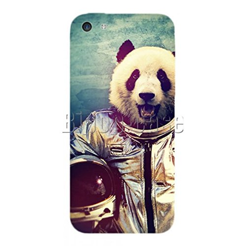 COQUE PROTECTION TELEPHONE IPHONE 5C - PANDA COSMONAUTE