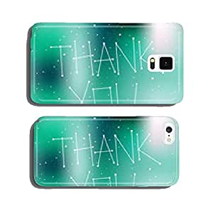 Thank you card, night time sky, stars. cell phone cover case iPhone5