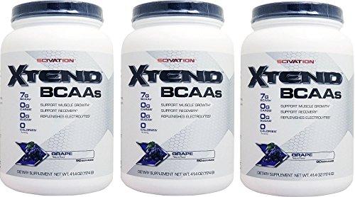 エクステンド (BCAA+Lグルタミン+シトルリン) ※グレープ風味 3個セット [海外直送品] [並行輸入品] B074FJ4RPY