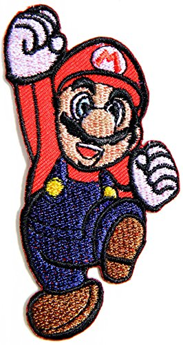Super Mario Patch Embroidered Iron on Badge Applique Costume Cosplay Mario Kart / Snes / Mario World / Super Mario Brothers / Mario Allstars