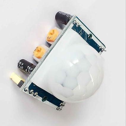 Uzinb Módulo del Sensor HC-SR501 Pequeño PIR de Infrarrojos piroeléctrico Cuerpo de detección de