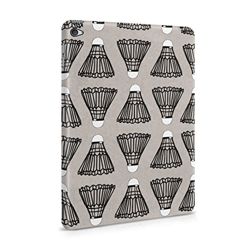(Indoor Outdoor Badminton Shuttlecock Birdie Pattern Plastic Tablet Snap On Back Case Cover Shell For iPad Mini 4)